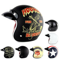 SOMAN Open Face Scooter Motorcycle Helmet 3/4 Retro Vintage Chopper DOT