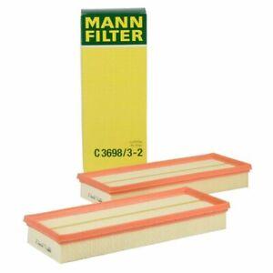 Set of 2 MANN-FILTER C3698/3-2 Air Filter for Mercedes Benz