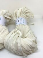 Silk chiffon ribbon yarn, sari silk, weaving, knitting, textile art, handmade.