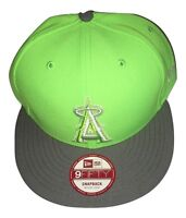 NWT New Los Angeles Angels New Era 9Fifty The Queens Neon Green Snapback Hat Cap