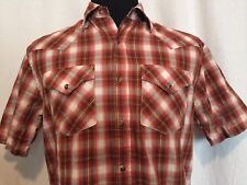 Pendleton Shirt Mens Small S Plaid Frontier Snap Shirt