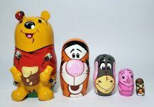 Russian Nesting Dolls Winnie the Pooh with Honey Pot Beautiful Set 5 pcs!