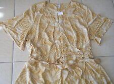 Ladies Mustard & White Midi / Maxi Wrap DRESS Size 24 Plus Size New Tags