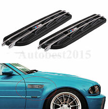 New M Side Fender Air Flow Vents Grille Grill For BMW 3 Series E36 E46 E90 Black