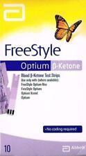 =>3 x Abbott Freestyle Optium Ketone Strips (10 per box) TOTAL 30 STRIPS