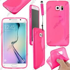 Housse Etui Coque Silicone S-line Rose Samsung Galaxy S6 G920F Mini Stylet