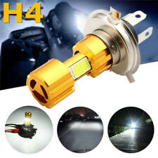 H4 LED 3 COB Motorcycle Headlight Hi/Lo Beam Front Light Lamp Bulb Super Bright