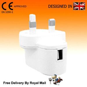 Juice Fast 1 Port USB Charger 3 Pin UK Mains Wall Plug Adapter 1000mAh 5V