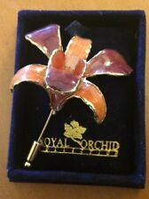 Royal Orchid Collection Red Orchid Pin (See Description)