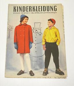 DDR Zeitschrift Kinderkleidung Herbst Winter Bestellnr 1427 Schnittmusterbogen