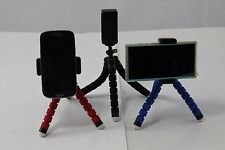 Mini Adjustable Spider Tripod Holder for Mobile Phone iPhone Samsung HTC Red