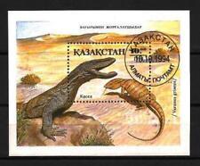 Animaux préhistoriques Kazakhstan (20) bloc oblitéré