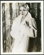 MARY PICKFORD in WHITE FUR COAT Original Vintage 1920s PORTRAIT Photo