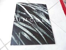 Lincoln Navigator 2001 catalogue brochure prospectus commercial sales