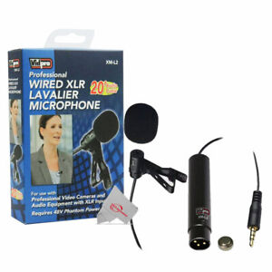 Vidpro Professional Wired XLR Lavalier Microphone XM-L2 for Pro Audio Equipment