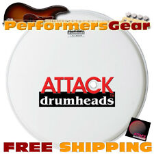 "Attack DHA12CR 12"" 1-Ply Coated Medium Percussion Drum Head, with Tone Ridge"