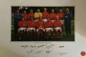 England 1966 World Cup Photo signed by 9 Winners Amazing Value With Bids Fr £75