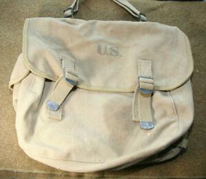 WWII Original 1943  Model 1936 Musette Bag - Canvas Field Bag