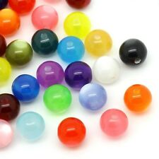 10 perles Oeil de Chat 12mm couleur mixte 12 mm perle creation bijoux, bracelet