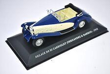 Voiture modèle réduit collection 1/43ème Delage D8 SS cabriolet de 1932