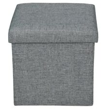 """epeanhome Storage Ottoman Polyester Folding Stool Collapsible 15"""" Cube Foot Rest"""