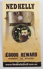 79015 NED KELLY STUFF COLLECTABLE PIN BADGE 15 of 20 1855 - 1880 BULLET HOLES