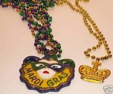 LOT MARDI GRAS Necklaces - Female Jester & Crown!