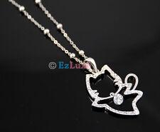 korean fashion kitty kitten cubic Crystal Cat Necklace