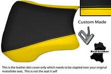 Jaune & noir custom fits honda CBR 900 RR Fireblade 02-03 Housse Siège Avant