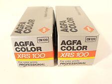 2 x rolls vintage AGFA COLOR XRS 100 CN120 , ISO 100 MEDIUM FORMAT, EXPIRED