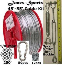 Medium Duty 55' Indoor/Outdoor Cable Kit for Baseball Softball Batting Cage Net