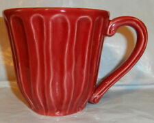 Starbucks~Red Ribbed Portugal Coffee Mug 12 oz