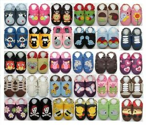 minishoezoo soft leather baby pram shoes 0-6, 6-12, 12-18,18-24m, 2-3T, 3-4T