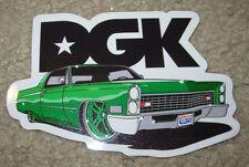 "DGK Logo Skate Sticker LOWRIDER 3 X 4.25"" skateboards helmets decal"