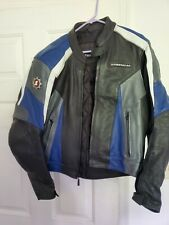 First gear leather motorcycle jacket