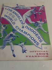 Vintage Original 1964 Los Angeles Dodgers Yearbook Koufax Drysdale World Champs