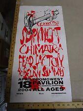 MB/ 2004 Rock Roll Concert Poster Slipknot Chimaira  Mike Martin S/N LE # 100