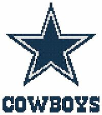 Counted Cross Stitch Pattern, Dallas Cowboys - Free US Shipping