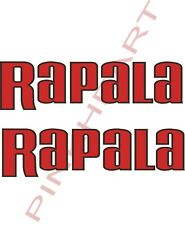 2 LG Rapala bait decals stickers bass boat tournament sponsor fishing lures USA