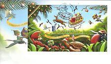 CHRISTMAS Island 2016 Christmas MINISHEET on FDC