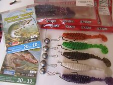 READY to Fish FANATIK  Set (19pcs) lures- offset-jig heads