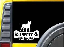 Bull Terrier Bone Sticker L100 8 inch spuds dog decal