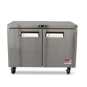 """Under Counter refrigerator  Undercounter Cooler 48"""" Work Top 2 Door 4' NEW"""