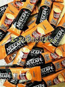 50 x Nescafe Original Caramel 3 in1 Rich White Coffee Sachets Sticks F Delivery
