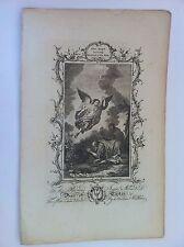 L'ANGE quittant MANOAH et SA FEMME Gravure  THE CHRISTIAN'S FAMILY BIBLE 1763