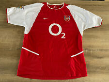 More details for nike arsenal o2 home shirt 02-2004 size: l