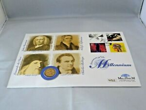 Westminster Mint Millennium 22ct Gold Sovereign (1900) Coin First Day Cover