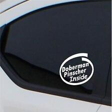2x Doberman Pinscher Inside stickers car decal