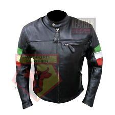New Men Motorcycle Black Cow Leather Jacket Coat Size XS S M L XL LTC077