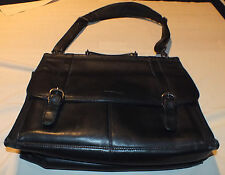 Kenneth Cole New York Black Leather Men's Briefcase Nice!